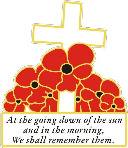 Cross And Poppies Car Sticker